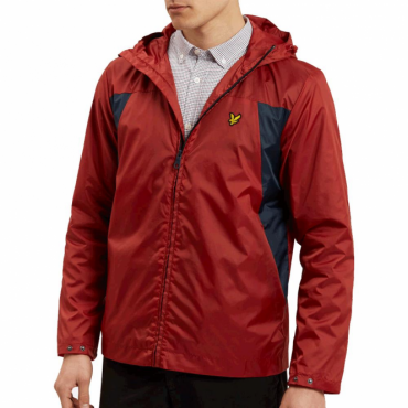 Lyle & Scott Pomegranate Red Lightweight Zip Up Hooded Jacket JK700V