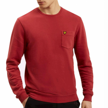 Lyle & Scott Pomegranate Red Crew Neck Sweatshirt ML701V