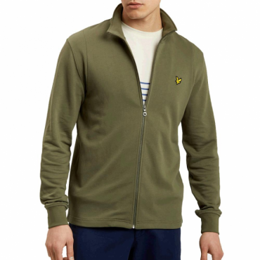 Lyle & Scott Olive Green Zip-Up Sweatshirt ML702V