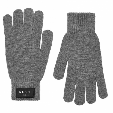 NICCE Hemlock Knitted Gloves Grey