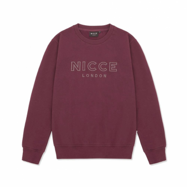 NICCE Keyline Crew Neck Sweatshirt Burgundy