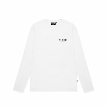 NICCE Chest Logo Long Sleeve T-Shirt White