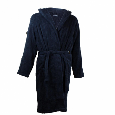 Emporio Armani Navy Cotton Towelling Dressing Gown Bath Robe 110799 7A591
