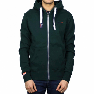 Superdry Orange Label Ziphood Forest Green Grit Hoody VSP