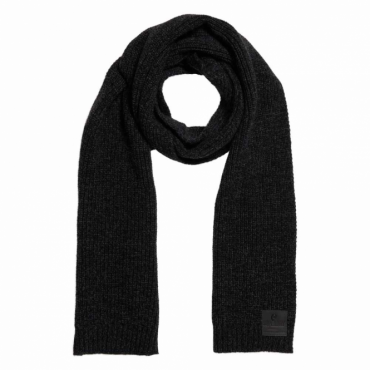 Superdry Surplus Goods Downtown Wool Scarf Black and Charcoal Twist GQ3
