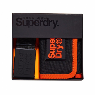 Superdry Lineman Gift Set Black 02A