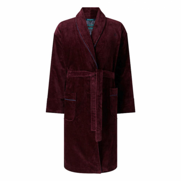 Ted Baker Tarinka Cotton Towelling Dressing Gown Dark Red
