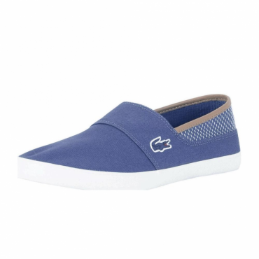 Lacoste Marice 118 Dark Blue Canvas Slip-On Plimsoles