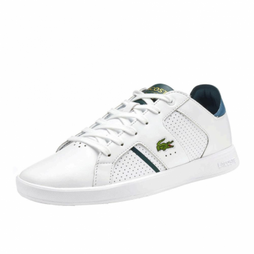 Lacoste Novas CT 118 White Leather Trainers