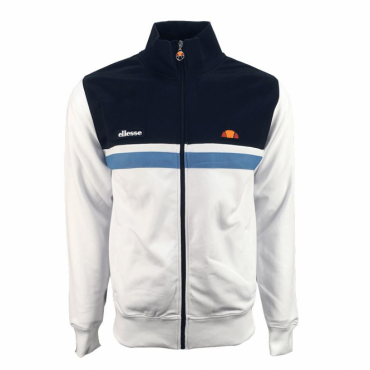 Ellesse Transimeno White Blue Zip Up Tracktop