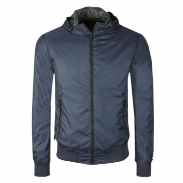 Replay Navy Blue Hooded Jacket M8902