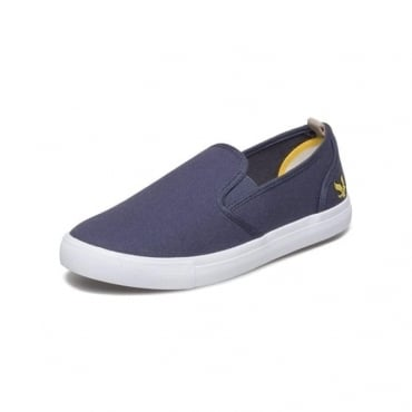 Lyle & Scott Mackie Slip On Canvas Navy Plimsoles FW815