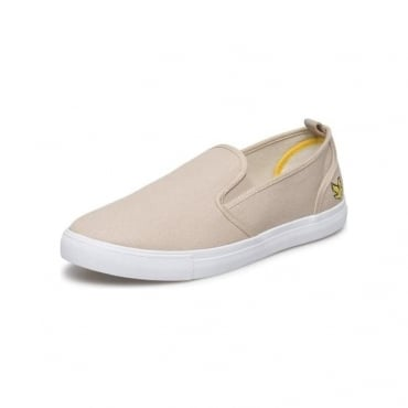Lyle & Scott Mackie Light Stone Slip On Canvas Plimsoles FW815