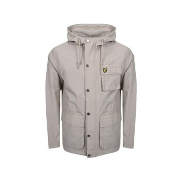 Lyle & Scott Light Stone Zip Up Hooded Jacket JK808V