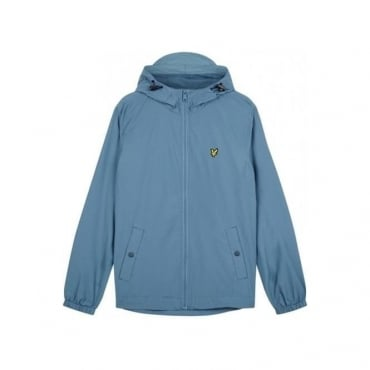 Lyle & Scott Mist Blue Zip Up Hooded Jacket JK464V