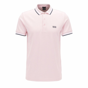 Boss Green Paddy Pique Polo Pink 693 50302557