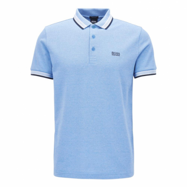 Boss Green Paddy Pique Polo Light Blue 468 50302557