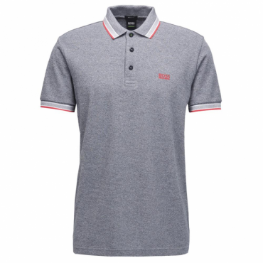 Boss Green Paddy Pique Polo Navy Grit 405 50302557