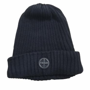 Foray Black Woolmix Beanie Hat With Turn-up