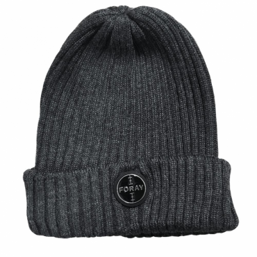 Foray Grey Woolmix Beanie Hat With Turn-up