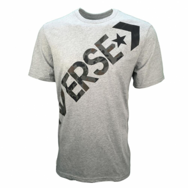 Converse Cross Body Logo T-Shirt Grey Marl 10005902