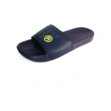 Superdry Lineman Navy Pool Slide Sandals 50T