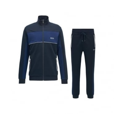 Hugo Boss Zip Up Panel Tracksuit Navy Blue 50381939