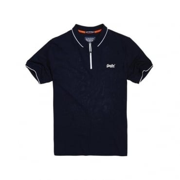 Superdry City Sport Zip Polo Navy PF8
