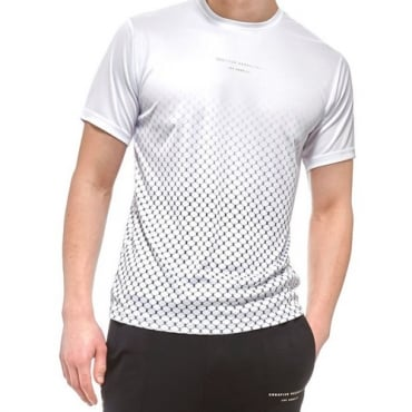 Creative Recreation House Pattern Ombre White T-shirt CRETM10069