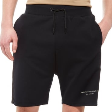 Creative Recreation House Pattern Black Track Shorts CRETM10066