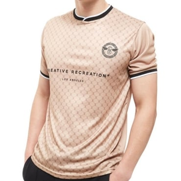 Creative Recreation House Pattern Soccer Champagne T-shirt CRETM10054