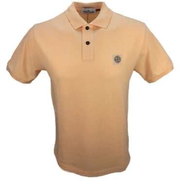 Stone Island Regular Fit Plain Pique Polo Salmon Pink V0081 22C15