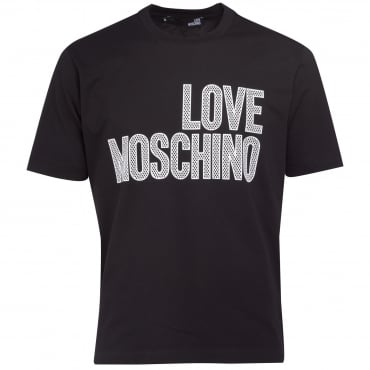 Love Moschino Black Logo T-Shirt M47321SM3876