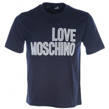 Love Moschino Navy Logo T-Shirt M47321SM3876
