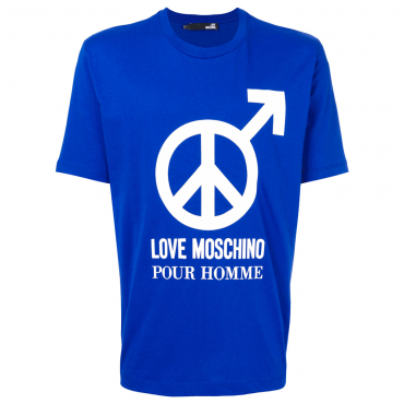 Love Moschino Blue Logo T-Shirt M47321NM3876