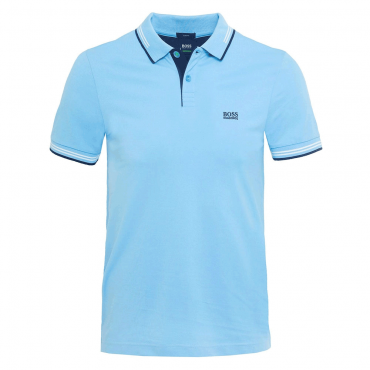 Boss Green Paul Slim Fit Stretch Polo Light Blue 468 50332503