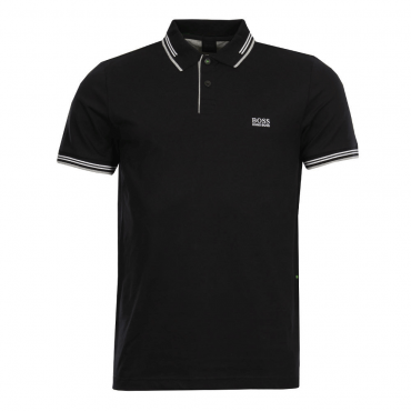 Boss Green Paul Slim Fit Stretch Polo Black 001 50332503