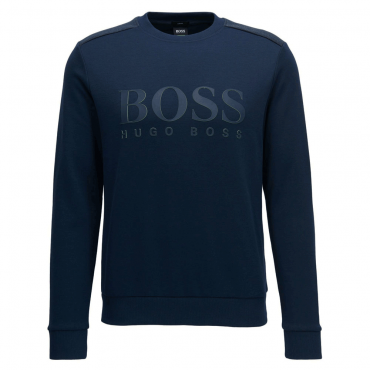 Boss Green Salbo Navy Blue Crew Neck Sweatshirt 50379126