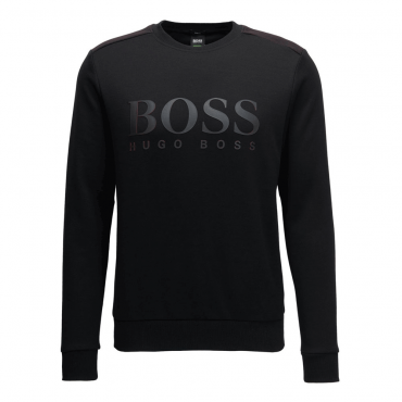 Boss Green Salbo Black Crew Neck Sweatshirt 50379126