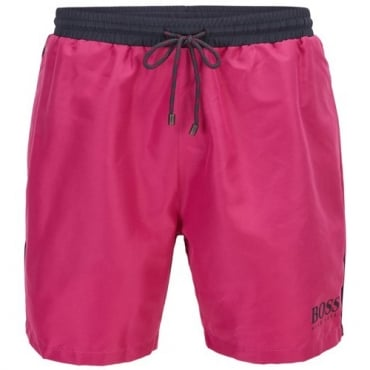 Hugo Boss Starfish Swim Shorts Magenta Pink 663 50269488