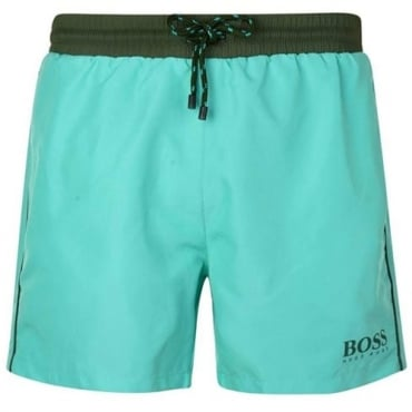Hugo Boss Starfish Swim Shorts Green 442 50269488
