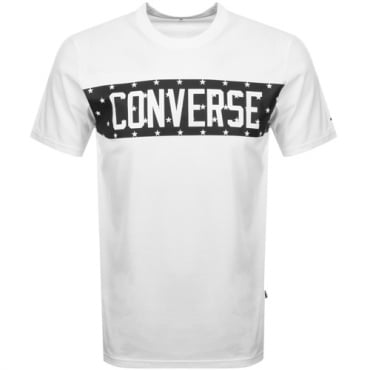 Converse Star Block Logo T-Shirt White 10006753