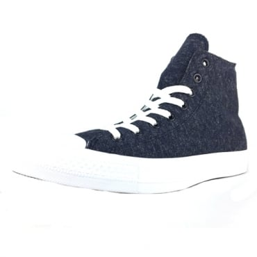 Converse All Star Navy Marl Jersey CTAS Hi Top Trainers 159636C