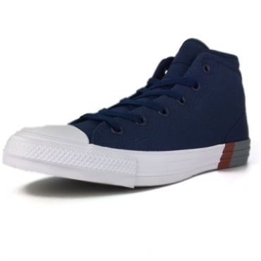 Converse All Star Navy Canvas CTAS Syde Street Hi Top Trainers 159553C