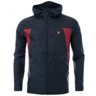 Lyle & Scott Navy Blue Lightweight Zip Up Hooded Jacket JK700V