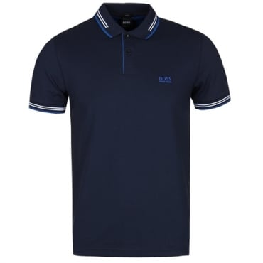 Boss Green Paul Slim Fit Stretch Polo Navy 409 50332503
