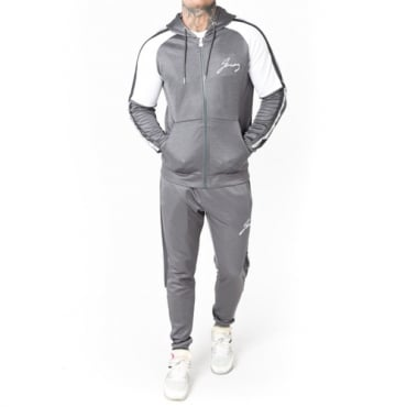 Foray Flux Charcoal Zip Up Hoody Tracksuit