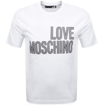 Love Moschino White Logo T-Shirt M47321SM3876