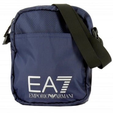 EA7 Blue Nylon Side Bag 275658