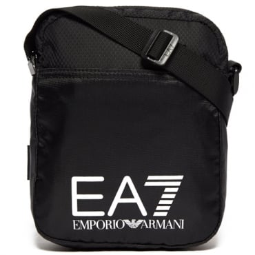 EA7 Black Nylon Side Bag 275658